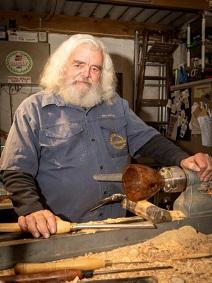 Woodturner Dave Stephenson
